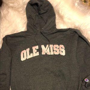 University of Mississippi hooded sweatshirt